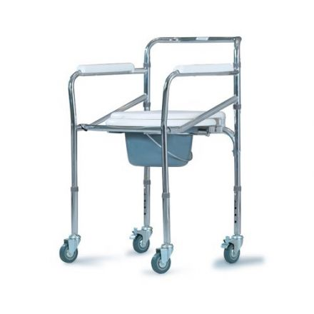 ALESSA Commode Chair With Wheels