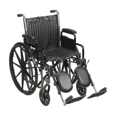 DRIVE Silver Sport2 Wheelchair with Elevating footrest (UK)