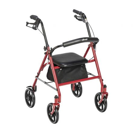 DRIVE Rollator Aluminum Light Weight - RED Color (UK)