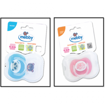 Medel Mebby Pacifier Soother Silicon 6+ Months