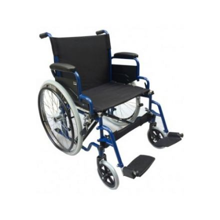 AL ESSA Standard Wheelchair 56 cm- With Solid Pu Tire/Spoke Wheel