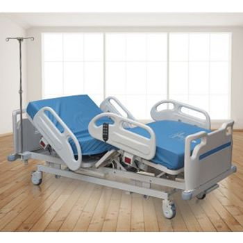 Medical Master Electric Hospital Bed (38 Cm) With Iv Pole, 12 Cm Mattress And Lifing Pole