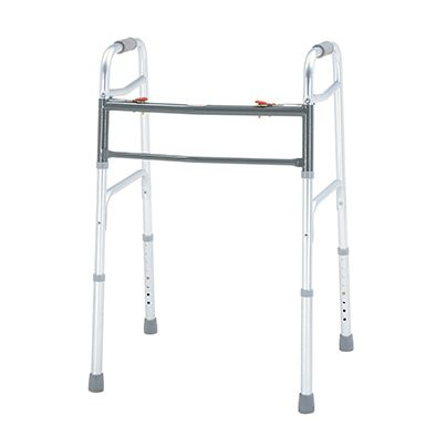 MERITS Deluxe Aluminum Folding Walker Without Wheel (Bariatric)