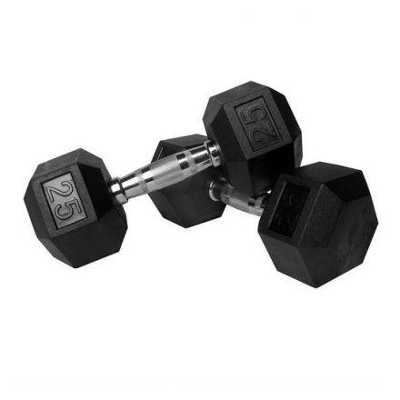 TA Sports Hex Dumbbells - 25 lb Pair