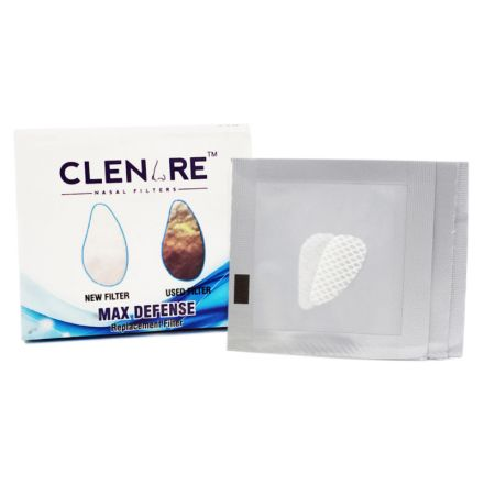 Clenare Nasal Replacement Filter, Slotted, Small