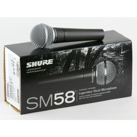 Shure Sm58-Lce Cardioid Dynamic Vocal Microphone